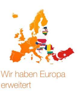 Orange Europakarte