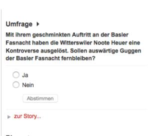 Screenshot Basler Zeitung 3.3.15, 10.33 Uhr.