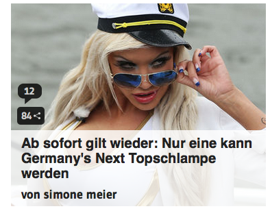 """Topschlampe"". Classy."