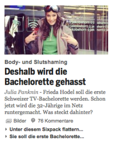 Slutshaming: Bachelorette